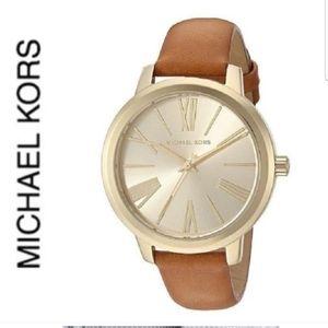 NWT authentic MK Hartman gold tone watch